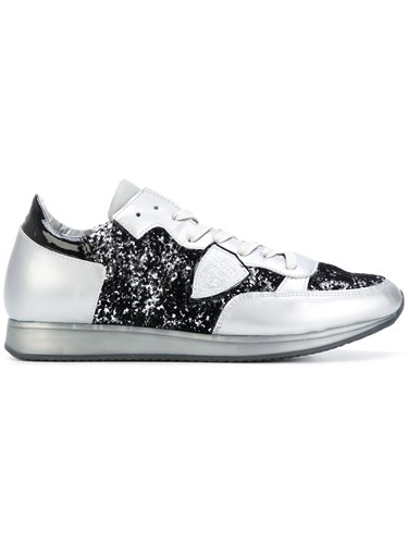 Philippe Model Glitter Lace Up Sneakers Metallic 9QWC2L