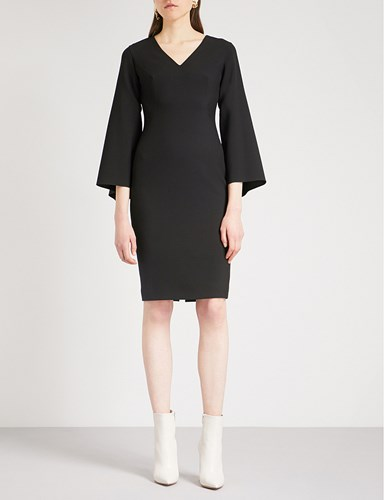 Osman Daphnis Flared Sleeve Woven Dress Black TQzu1