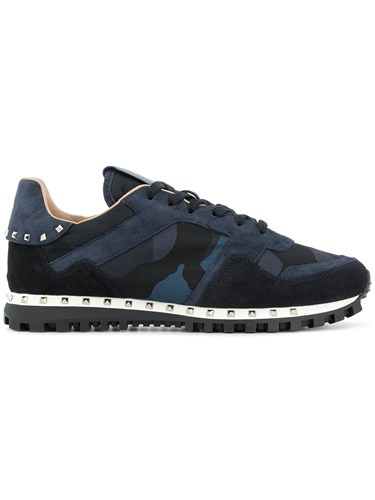 Valentino Camouflage Rockrunner Sneakers Blue 7E7pMwFaA