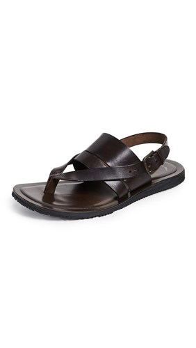 Kenneth Cole Reel Ist Leather Sandals Brown 6NORTeIy