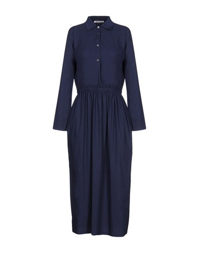 Barena Long Dresses Dark Blue KAwurCYiS