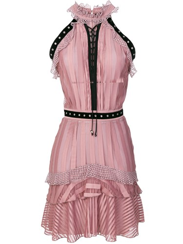 Just Cavalli Eyelets Embellished Dress Pink And Purple g2bc9CbGM