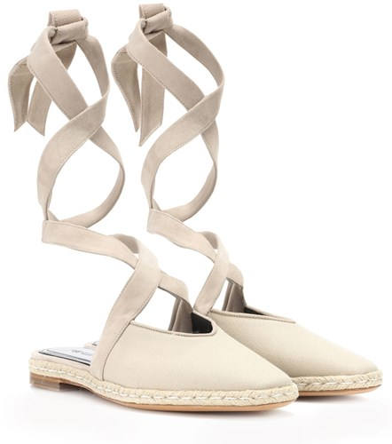 J.W.Anderson Canvas Lace Up Sandals Beige ExUVdkm6i