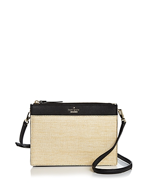 Kate Spade New York Cameron Street Straw Clarise Crossbody Black Multi Gold x4fxfE