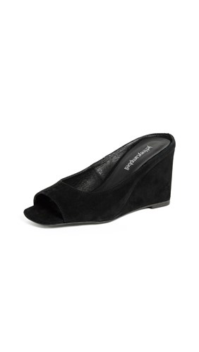 Wedges Campbell Black Jeffrey Peep Generous Toe w0xfddIq