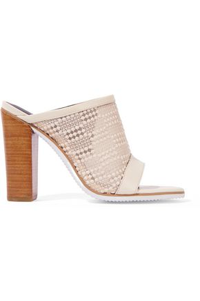 Trimmed Nora Leather Mesh Tibi Embroidered Sandals 1TwE00