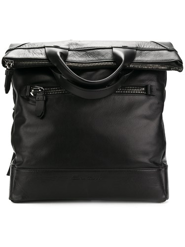 Santoni Oversized Backpack Black EVcAQ