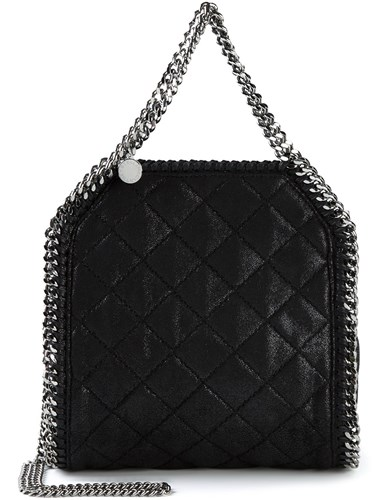 Stella McCartney Small Quilted Falabella Tote Black 0rVsBMD