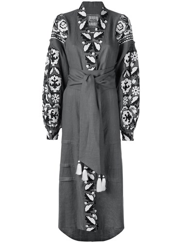 Yuliya Dress 'Royal Flax Grey Garden' Women Linen Magdych L 1t1rqHw