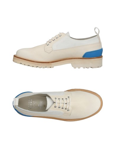 Leather Crown Lace Up Shoes Ivory rO0NiHVsAQ