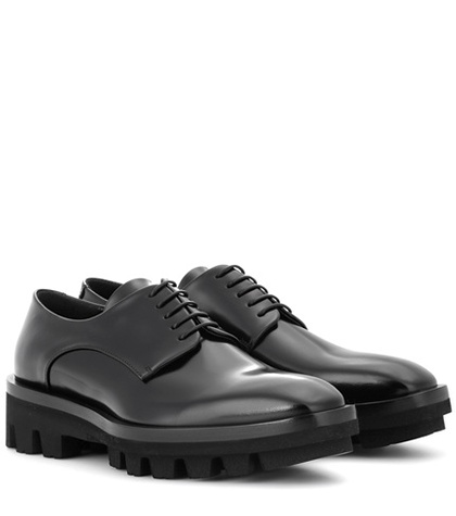 Jil Sander Leather Derby Shoes Black jTozyhJFD7