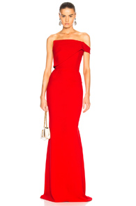 Roland Mouret Lockton Double Wool Crepe Gown In Red TmiGlhmz