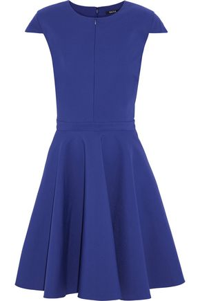 Raoul Flared Pleated Cotton Blend Dress Royal Blue Xuncq