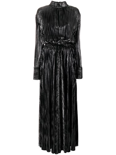 Balmain Pierre Metallic Evening Gown Polyester Black ugvosGD