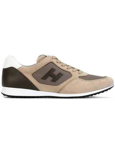 Hogan Panelled Sneakers Nude Neutrals Nl79O3bb