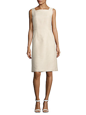 Lafayette 148 New York Kosmo Twill Dress White lz1f7