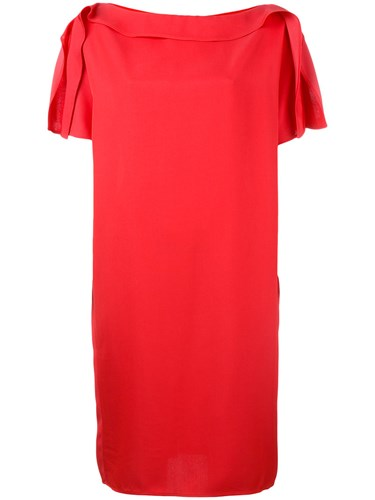 Gianluca Capannolo Pleated Sleeves Dress Red ZGX7koI