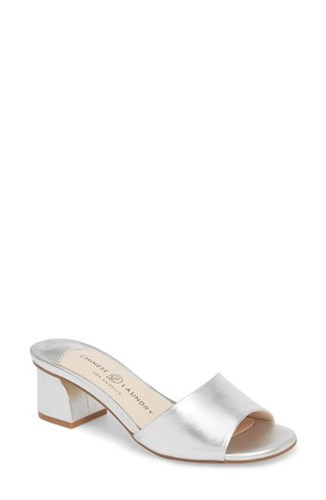 Chinese Laundry My Girl Slide Sandal Silver esDCcdzo