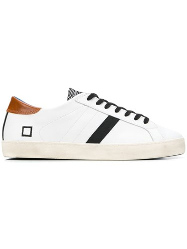 D.A.T.E. Lace Up Sneakers White