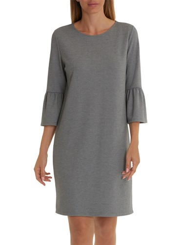 Betty & Co. Bell Sleeve Dress Middle Silver Melange GvQCQRaQ