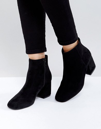 Asos Reach Up Ankle Boots Black 7n7XJtM