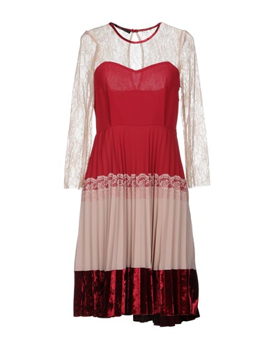 Annarita N. Knee Length Dresses Red Odp57ymct