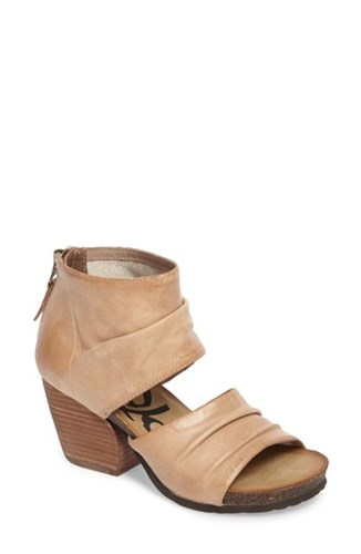 OTBT Women's Patchouli Open Toe Bootie Light Taupe Leather 7jQYAUoX