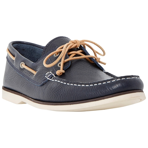 Bertie Battleship Leather Boat Shoes Navy R8y7d