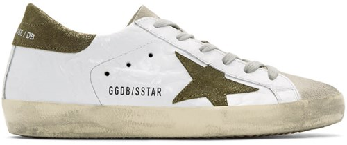 Golden Goose White And Green Superstar Sneakers mpokUA