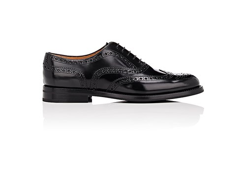 Church's Women's Burwood Leather Wingtip Oxfords Black WI8ycCu