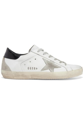 Golden Goose Deluxe Brand Superstar Distressed Leather And Suede Sneakers White Gbp 8xCTh