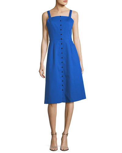 Novis The Granville Button Front Dress Blue Hjac5HG1