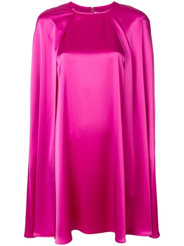 Gianluca Capannolo Satin Mini Cape Dress Pink And Purple lh8KpLwmeQ
