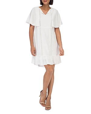 B Collection By Bobeau Dee Flounce Dress White SYVcLHdOS2