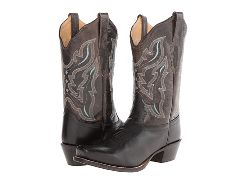 Old West Boots 18008 Black Charcoal Grey Cowboy 70WFuc19j