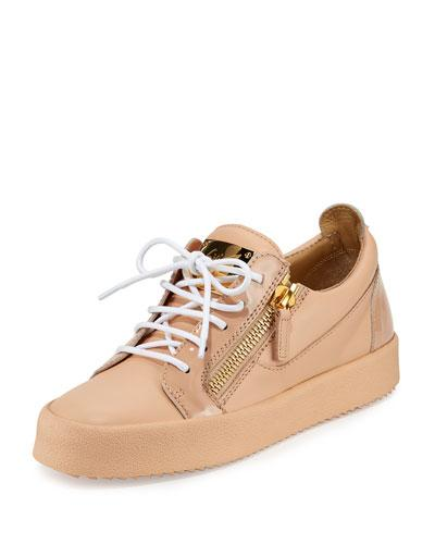 Zip Leather Side Zanotti London Shell Sneaker Pink Giuseppe qEIOTwH