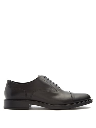Tod's Lace Up Leather Oxford Shoes Black 0CLI8Xa