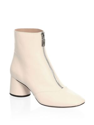 Natalie Front Black Jacobs White Off Zip Marc Ankle Boots Bf58xwqqE