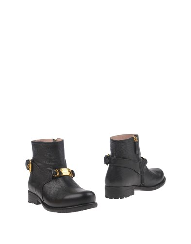 Boutique Moschino Ankle Boots Black m3RaVTauL