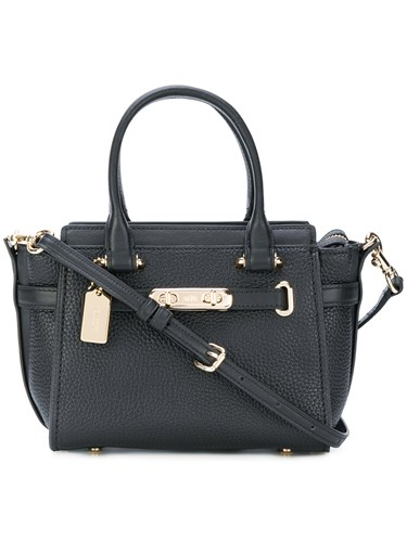 Coach Swagger 21 Shoulder Bag Calf Leather Black YBpkhETWes
