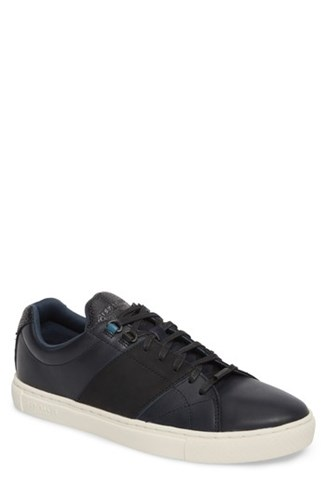 Ted Baker 'S Quana Low Top Sneaker Dark Blue Leather Fw7ZZ