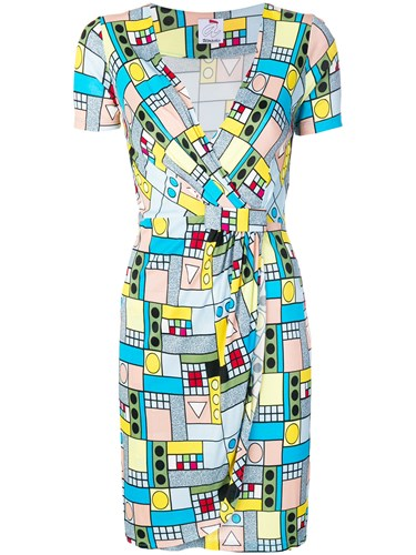 Ultràchic Geometry Print Mini Dress Multicolour ysNPw