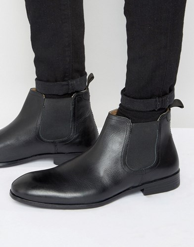 Red Tape Chelsea Boots In Black Leather Black z0Z2oHB