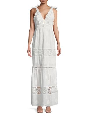 Eyelet Rae Embroidered Off Dress Adelyn White Maxi PSvxwnO
