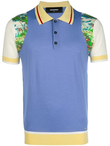 colourblock printed polo shirt - Multicolour Dsquared2 Best Place To Buy Online nztAO