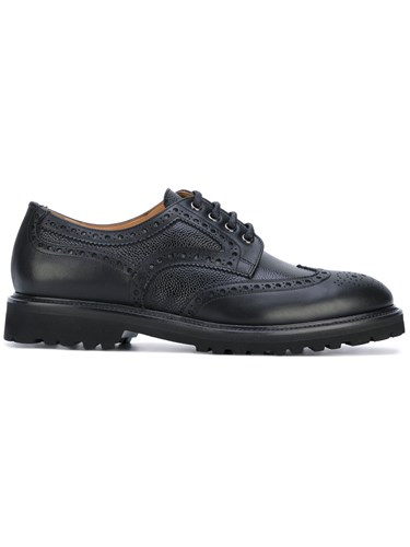 Aiezen Classic Lace Up Brogues Leather Rubber Black Bcvxku6Vlj