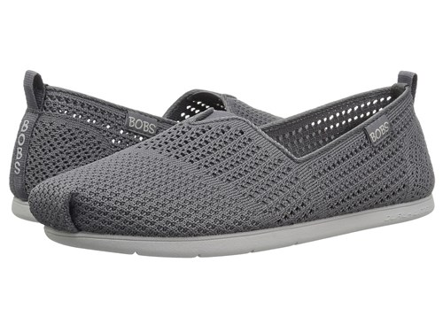 Skechers Bobs From Plush Lite Peek Charcoal Slip On Shoes Gray XfFczYL