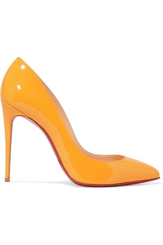 Christian Louboutin Pigalle Follies 100 Patent Leather Pumps Yellow H7JzR1