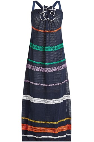 Rykiel And Dress Maxi With Knit Linen Cotton Sonia Sqwd77