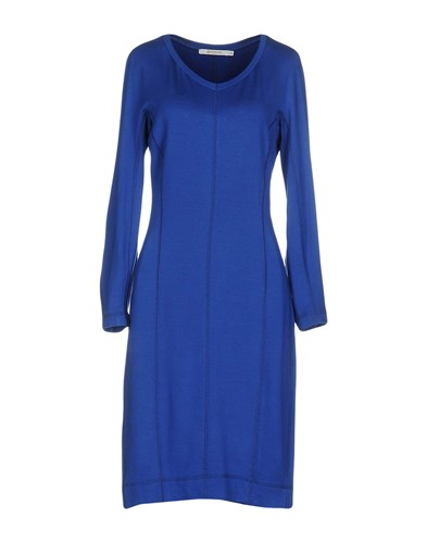 BGN BEGGON Knee Length Dresses Bright Blue J8a541